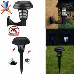 Solar Power LED Mosquito Pest Bug Zapper Insect Killer Lamp