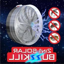 Solar Powered Buzz UV Lamp Light Trap Fly Insect Bug Mosquit