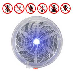 Solar Powered Buzz UV Light Fly Insect Bug Mosquito Zapper H