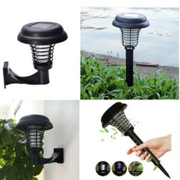 Solar Powered LED Lamp&Bug Zapper Mosquito Killer Insect Rep