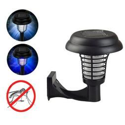 Solar Powered LED Light Mosquito Pest&Bug Zapper Insect Kill