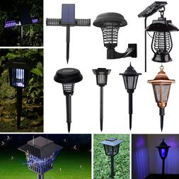solar powered led light pest bug zapper