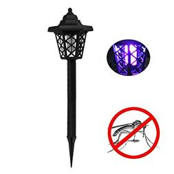 USHOT Solar Powered LED Light Mosquito Pest Bug Zapper Insec