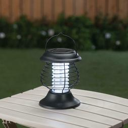 Solar Powered Lighted Tabletop Hanging Mosquito Bug Zapper L