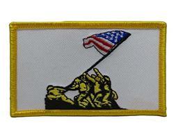 ALBATROS U.S. Military Iwo Jima Marines USMC Flag  Iron On P
