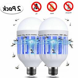US 2in1 15W LED Anti-Mosquito Insect Zappers Fly Bug Lure Ki