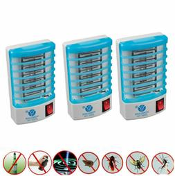 US 3-Pack Light Zapper LED Light Kill Bug Mosquito Fly Insec