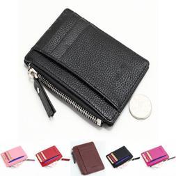 US Women Card Holder Wallet Zipper Small Mini Purse Coin bag