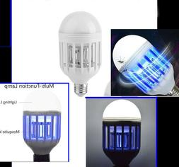 UV LED Mosquito Bug Zapper Killer Bulb Porch Carport Patio D