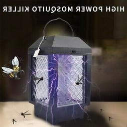 UV LED Solar/Battery Powered Mosquito Killer Trap Lamp Lante