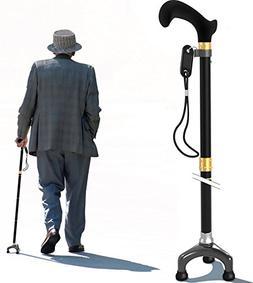 Bago Walking Cane for Men & Women - Folding Stick with Ergon