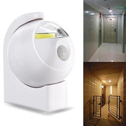 Wireless COB LED PIR Motion Sensor Battery Powered Night Lig