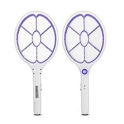 Yongtong 2-Pack USB Rechargeable Mosquito Racket, Handheld B