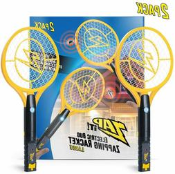 ZAP IT! Bug Zapper Twin-Pack Rechargeable Mosquito, Fly Kill