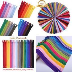 12 Inch Zippers - Nylon Coil Zippers Bulk - Supplies for Tai