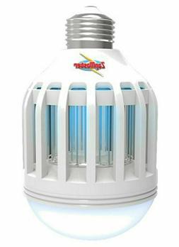 Zap Master ZM400 2 in 1 LED Lightbulb and Bug Zapper, White